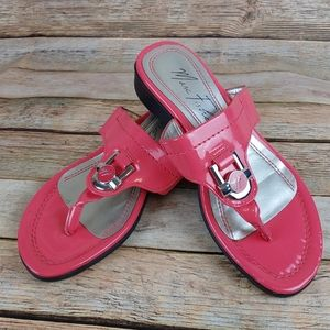 Marc Fisher coral slip on sandals 5